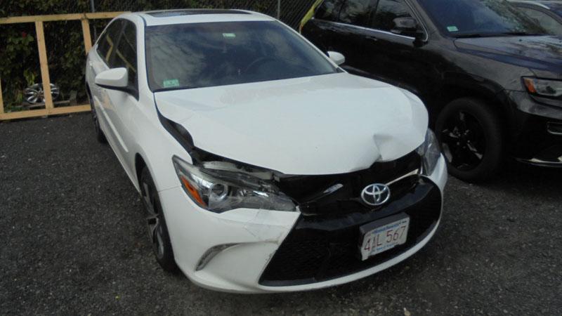 White Toyota Before Par