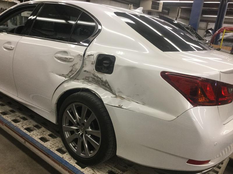 White Lexus Before